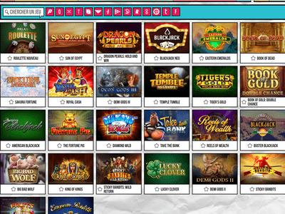 Jeux du casino Pari Pop