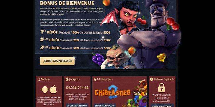 Bonus de bienvenue sur Paris Casino