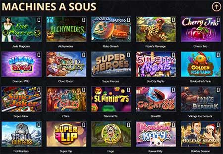 Jeux du casino Paris Casino