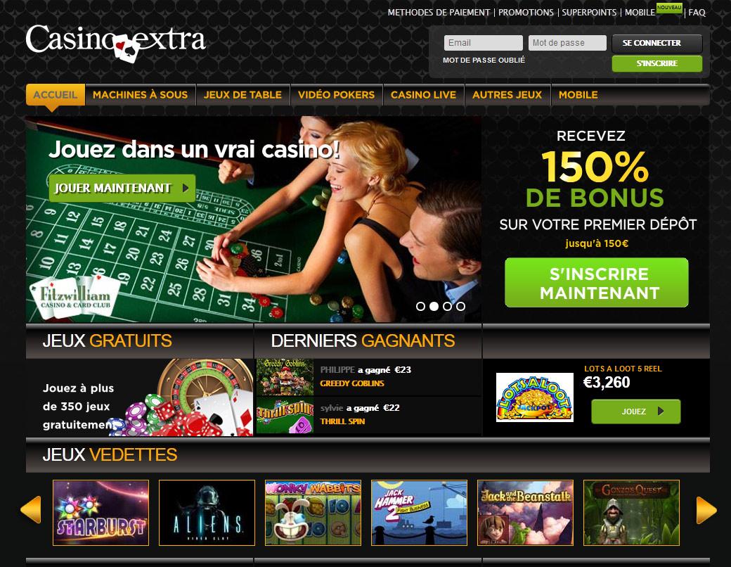 casino extra retrait