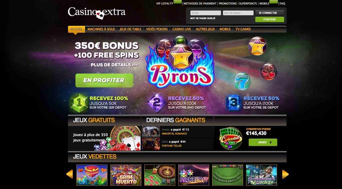 casino extra code bonus