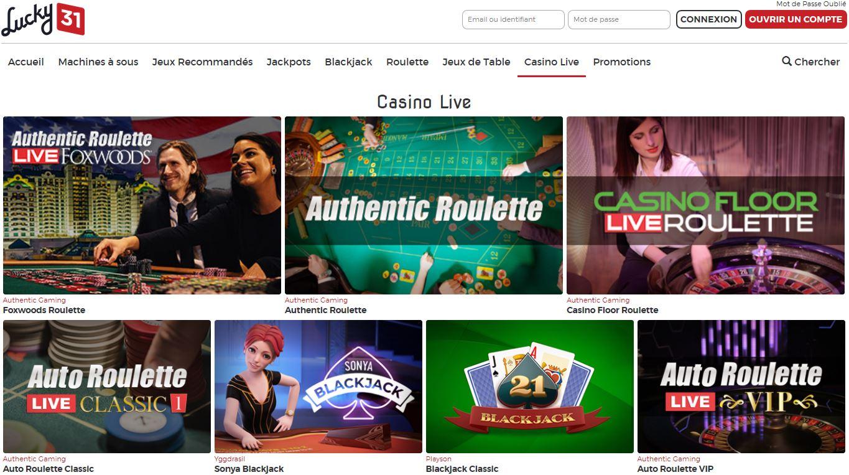 lucky31 casino live