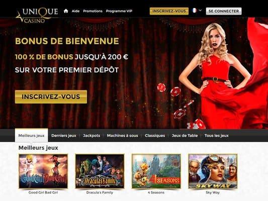 Supprimer un compte Unique Casino